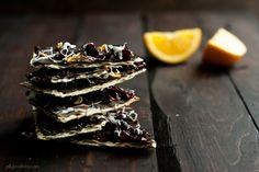 dark chocolate cranberry orange matzo bark - Jelly Toast