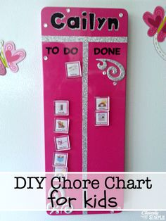Create this DIY chore chart for kids with simple supplies from your local store.