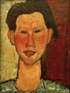 Amadeo Modigliani - Chaim Soutine 1915 / painting / Modigliani