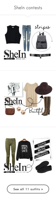 """""""SheIn contests"""" by hola-hi ❤ liked on Polyvore featuring Frame Denim, Fallon, MANGO, Aéropostale, Sergio Rossi, Current/Elliott, GALA, Vans, Fiorentini + Baker and MM6 Maison Margiela"""