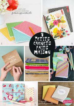 7 idées inspirantes pour se faire un petit carnet avec des chutes de feuilles agrafées ou cousues et pour customiser la couverture