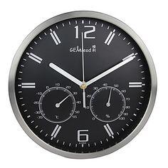 relógio de parede contemporânea em aço - Gem & Lead