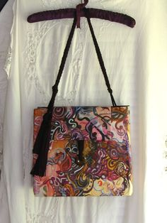 Items similar to ANON PORTFOLIO PURSE. one of a kind hand painted by award  winning artist Virginia Bryant on Etsy 65f748dfc0