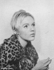 Animated Gif of Edie Sedgwick c. 1967 60s Sixties Mod Maleup Lashes Fashion Style It Girl Pop Art Andy Warhol Factory Manhattan New York Paraphernalia Boutique Betsey Johnson Vogue Edy Eddy Edi Sedgewick Sedwick