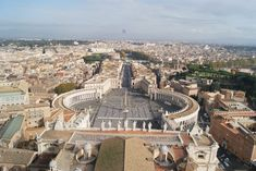 Photo about St Peter`s Square, Via della Conciliazione and the Castel Sant` Angelo as seen from above St Peter`s dome, the highest point in Rome. Image of elevated, city, rome - 82629884 Time Photography, Travel Photography, 3 Days In Rome, St Peters Basilica, Vatican City, Grand Tour, Luxury Travel, Places To Travel, Paris Skyline