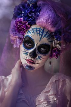 Sugar skull art work. #skull #dotd