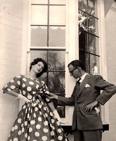 Athol Shmith & Georgia Gold in polka dots, fashion shoot for 'Smartly into Spring' for Daily Telegraph Women's Mag. photo Janice Wakely, Australia 1959