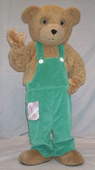 Corduroy Bear rental costume for promotional use only at schools, libraries, and bookstores. Teddy Bear Day, Teddy Bears, Bookstores, Libraries, Halloween 2017, Halloween Costumes, Corduroy Bear, Bear Character, Bear Costume