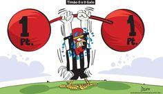 Charge do Dum (Zona do Agrião) sobre o empate entre Atlético e Corinthians (06/10/2016) #Charge #Dum #Atlético #Galo #Corinthians #CampeonatoBrasileiro #Brasileirão #HojeEmDia