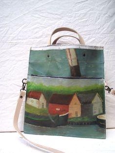 Swarm — Painting Bag - Canal Tassen gemaakt van schilderijen. Leuk!