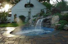 hot tub waterfall