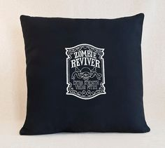 Zombie Reviver Apothecary Label  Customizable Pillow Cover by SheBellaBirk on Etsy