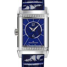 26684ab Ivy Blue Christian Louboutin Jaeger LeCoultre Reverso Duetto Ladies Watch Jaeger Lecoultre Reverso, Jaeger Lecoultre Watches, Time Zones, Sharp Dressed Man, Blue Tones, Gentleman Style, Stainless Steel Case, Deep Blue, Black Print