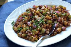 Vegetarian Potato Hash Recipe   Archana's Kitchen - All Things Vegetarian - The Vegetarian Potato Hash Recipe is a classic dish that you can serve for breakfast or dinner or even as a side dish. #Vegetarian #Recipes