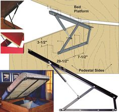 DIY kit for lift bed, up to heavy double size.