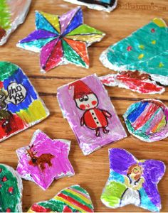 Decorated Foil Christmas Ornaments are a fantastic kids craft for Christmas