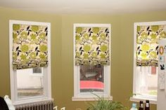DIY no sew roman shades--- http://365days2simplicity.blogspot.com/2011/04/easy-no-sew-roman-shades.html?m=1