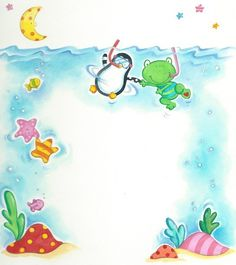 Cute illustrations - under the sea