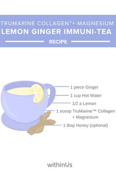 Lemon and ginger tea is beneficial when you're feeling under the weather, but did you know adding it to your nightly routine can help support your immune system too? Feeling Under The Weather, Ginger Tea, Lemon Slice, Tea Recipes, Gut Health, Immune System, Night Time, Whole30, Healthy Eats