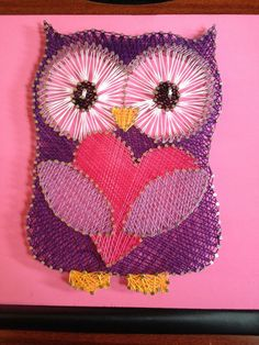 STRING ART: purple owl $35 interested in purchasing email me at missbea0717@gmail.com