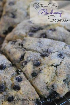 Light, tender, Gluten-free Blueberry Scones. Best breakfast treat ever!