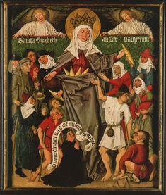Meister der Gewandstudien: Elisabeth-Triptychon (Ausschnitt), um 1480, in der Staatlichen Kunsthalle in Karlsruhe