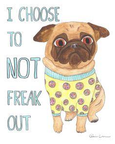Funny Animals Funny Animal Art Pug Art Pug by ChickenpantsStudio