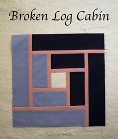 Broken Log Cabin, a block tutorial by Smiles Too Loudly