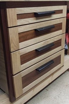 Learn Woodworking Workbench drawers More - Best Woodworking Tools, Woodworking Bench Plans, Woodworking Furniture, Woodworking Crafts, Woodworking Classes, Teds Woodworking, Woodworking Apron, Woodworking Quotes, Workbench Plans