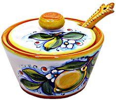 Deruta Italian Ceramic Sugar Bowl. Shape and form more than design
