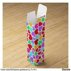 Shop Cute colorful hearts patterns wine box created by ForArt. Wine Gift Boxes, Champagne Bottles, Heart Patterns, Surface Design, Card Stock, Hearts, Gift Wrapping, Colorful, Cute