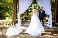 Wedding ceremony in a gorgeous outdoor gazebo at Jamberoo Resort