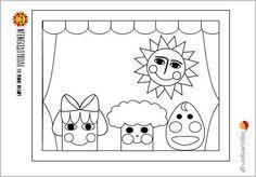 Ζωγραφοσελίδα Ντενεκεδούπολη 2--  Η Μηλίτσα, ο Βουτηρένιος , ο Μελένιος και ο Ήλιος της Ντενεκεδούπολης μας παρουσιάζονται στο κουκλοθέατρο για να ξεκινήσει η παράσταση . Ας τους χρωματίσουμε λοιπόν   #logouergon #selideszografikis #ntenekedoupoli Snoopy, Kids Rugs, Christmas, Fun, Fictional Characters, Decor, Games, Xmas, Decoration