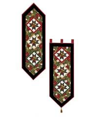Christmas Quilted Table Topper Downloads - Happy Holiday Table Runner & Wall Hanging Pattern $7.99