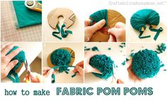 I am a sucker for pom poms . . . mainly because they are so happy and so safe for children with special needs.  This is a great tutorial.