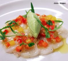 Ceviche, Fish And Seafood, Food Presentation, Caprese Salad, Food And Drink, Appetizers, Favorite Recipes, Healthy Recipes, Vegetables
