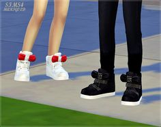 "sims4-marigold: "" • bow high top sneakers (child)_unisex_어린이 리본 하이탑_18 colors my blog_download """