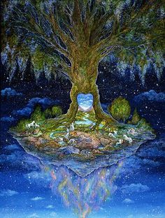Welcome to the website of the fantasy artist Josephine Wall Josephine Wall, Fantasy Paintings, Fantasy Artwork, Art Visionnaire, Mystique, Visionary Art, Tree Art, Mother Earth, Les Oeuvres