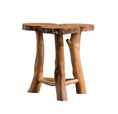 Natural Style High Quality Soid Wood Floor Stand Table Side Table