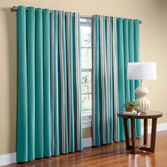 Delightful Exclusive Fabrics Cotenza Turquoise Faux Cotton Curtain Panel By Exclusive  Fabrics | Best Cotton Curtains Ideas