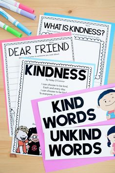 Kindness digital and printable activities by Teaching with Haley. Social-Emotional Learning is more important than ever and having quality lesson plans and activities makes it so much easier. These worksheets