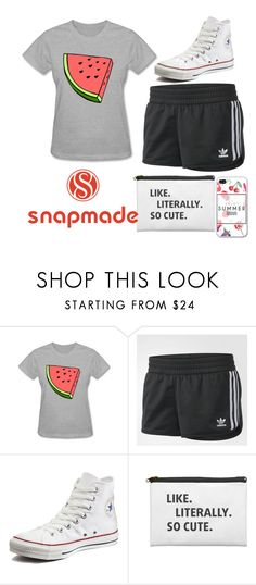 A fashion look from June 2017 featuring sleeved shirt, stripe shorts and star sneakers. Browse and shop related looks. Canvas Sneakers, Striped Shorts, Converse, Fashion Looks, Adidas, Shoe Bag, Tees, Cute, Polyvore