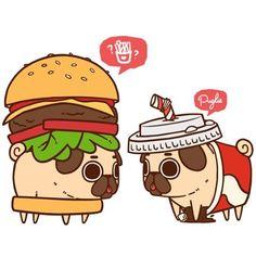 72 Best Pug Food Cute Images Kawaii Drawings Pug Dogs Cute Drawings
