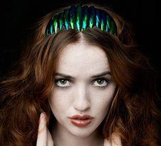 beetle wing headband