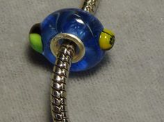 European glass bead ladybug blue glass big hole 1516 #European