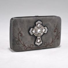 Dasein Western Frame Wallet w/ Rhinestone Cross - Dark Grey Mossy Oak Bags & Wallets. $19.99