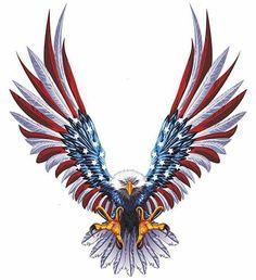 Patriotic Eagle American Flag