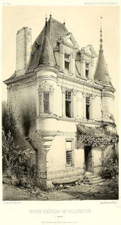 The Château de Villeneuve, France