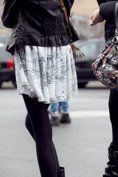 http://indulgy.com/post/bXXb1pUKb1/saia #printed skirt #cool #streetstyle #love it!