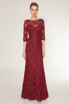 Red Mother of the Bride gown by Teri Jon | Dress for the Wedding